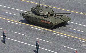 壁纸、、戦車、ロシアの、2015-18 T-14 Armata、陸軍