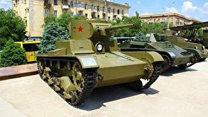 Hintergrundbilder Panzer Russland Wolgograd Russische Museum T-26 Heer