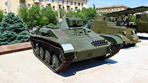 Hintergrundbilder Panzer Russland Wolgograd Russische Museum T-60 Heer