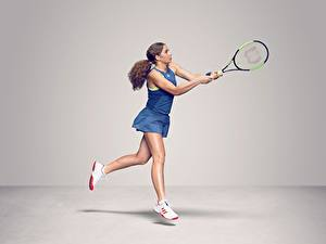 Hintergrundbilder Tennis Bein WTA Latvian, Jelena Ostapenko Sport Mädchens