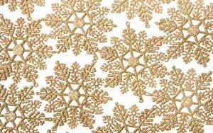 Hintergrundbilder Textur Schneeflocken Gold Farbe