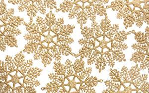 Desktop hintergrundbilder Textur Schneeflocken Gold Farbe