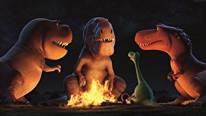 Pictures The Good Dinosaur Dinosaurs Three 3 Bonfire Cartoons