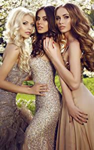 Hintergrundbilder Drei 3 Starren Hand Kleid Schön