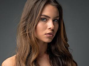 Fotos Model Haar Gesicht Blick Braunhaarige Tiziana Di Garbo Mädchens