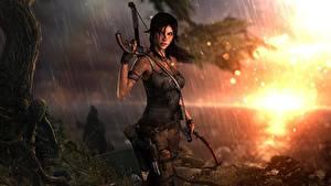 Fotos Tomb Raider Krieger Lara Croft Fanart Spiele Mädchens