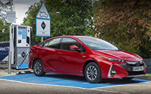 Fotos Toyota Rot Metallisch Hybrid Autos 2019 Prius Plug-in Hybrid Business Edition