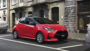 Fotos Toyota Rot Metallisch Hybrid Autos 2020 Yaris Hybrid