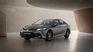 Fotos Toyota Graue Metallisch Camry Hybrid, EU-spec, 2020 automobil