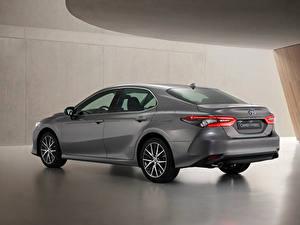 Bilder Toyota Grau Metallisch Camry Hybrid, EU-spec, 2020 auto