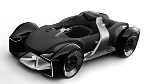 Bilder Toyota Formel 1 Weißer hintergrund Schwarz 2019 e-Racer automobil