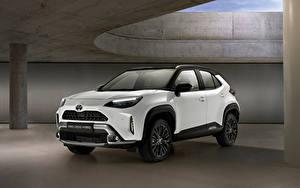 Fotos Toyota Crossover Weiß Metallisch Hybrid Autos Yaris Cross Hybrid Adventure, Worldwide, 2021 automobil