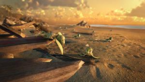 Bilder Schildkröten Sand Strand A Turtle's Tale: Sammy's Adventures Animationsfilm 3D-Grafik