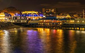 Fotos USA Küste Haus Kalifornien Café Nacht Lichtstrahl Redondo Beach Städte