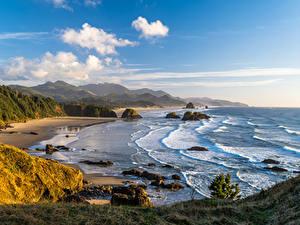 Bilder USA Küste Berg Landschaftsfotografie Wolke Oregon Natur