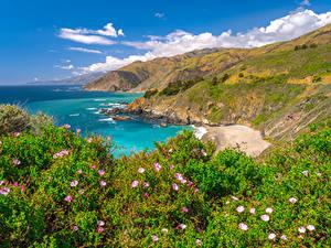 Hintergrundbilder Vereinigte Staaten Küste Ozean Gebirge Kalifornien Big Sur Natur