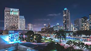 Bilder USA Haus Kalifornien Nacht San Diego Städte