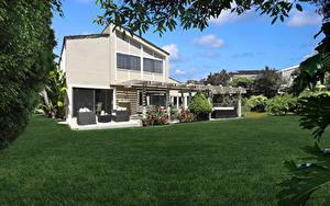 Bilder USA Gebäude Kalifornien Herrenhaus Design Rasen Dana Point Städte