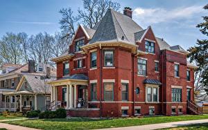 Fotos Vereinigte Staaten Gebäude Eigenheim Design Franklin Square Historic District, Bloomington, Illinois Städte
