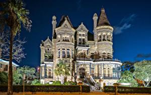 Bilder Vereinigte Staaten Gebäude Texas Eigenheim Design Nacht Galveston