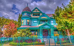 Hintergrundbilder Vereinigte Staaten Gebäude HDR Kalifornien Los Angeles Zaun Herrenhaus Design Städte