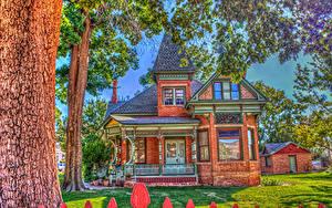 Hintergrundbilder USA Haus HDRI Eigenheim Design Kanab Utah Städte