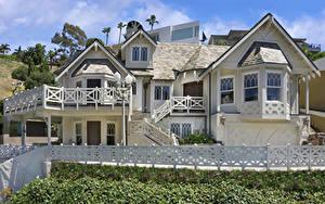 Bilder USA Haus Kalifornien Eigenheim Design Zaun Laguna Beach Städte