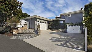 Hintergrundbilder USA Haus Eigenheim Design Garage Treppen Laguna Beach Städte