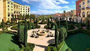 Bilder USA Gebäude Landschaftsbau Hotel Nevada Hilton Lake Las Vegas Resort Städte