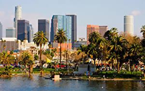 Hintergrundbilder Vereinigte Staaten Gebäude Los Angeles Kalifornien Palmen Städte