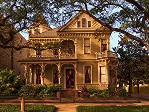 Bilder USA Gebäude Herrenhaus Design Zaun Ast New Orleans Städte