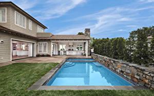 Fotos USA Haus Kalifornien Eigenheim Design Schwimmbecken Newport Beach Städte