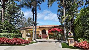 Hintergrundbilder USA Haus Herrenhaus Design Strauch Palmengewächse Newport Beach