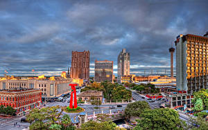 Bilder USA Haus Straße Himmel Texas Straße San Antonio