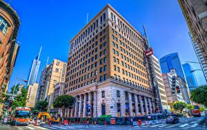 Bilder Vereinigte Staaten Gebäude Wolkenkratzer Kalifornien Los Angeles HDRI Stadtstraße Städte