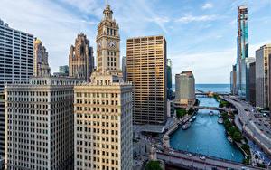 Fotos Vereinigte Staaten Haus Wolkenkratzer Chicago Stadt Städte
