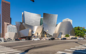 Fotos Vereinigte Staaten Gebäude Kalifornien Los Angeles Design Stadtstraße Walt Disney Concert Hall Städte