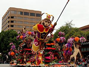 Hintergrundbilder Vereinigte Staaten Affen Kalifornien Design Pasadena Natur