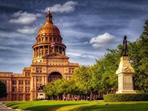 Fotos USA Denkmal Haus Texas Austin TX HDR Travis County, Texas Capitol Städte