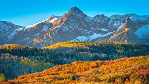 Bilder Vereinigte Staaten Berg Landschaftsfotografie Herbst Colorado Natur