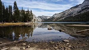 Bilder USA Gebirge Steine See Park Kalifornien Yosemite Natur