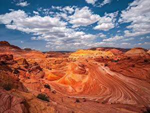 Hintergrundbilder USA Canyons Felsen Wolke Pariah Marble Canyon, Arizona
