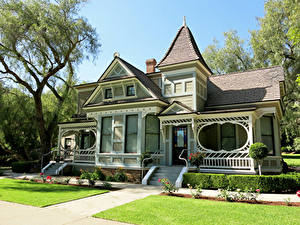 Desktop hintergrundbilder Vereinigte Staaten Park Gebäude Kalifornien Design Stiege Rasen Eigenheim Brand Park Städte