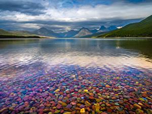 Fotos USA Park See Gebirge Wolke Lake McDonald, Glacier National Park