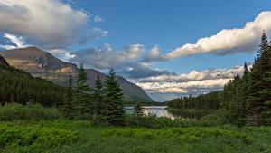 Hintergrundbilder Vereinigte Staaten Parks Gebirge Wolke Glacier National Park