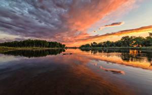 Bilder USA Park Flusse Sonnenaufgänge und Sonnenuntergänge Himmel Chatfield State Park Colorado