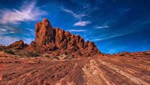 Hintergrundbilder USA Park Himmel Felsen Nevada Valley of Fire State Park