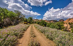 Fotos Vereinigte Staaten Straße Himmel Wolke Arizona, Prescott Valley