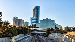 Fotos USA Wolkenkratzer Wege HDR Atlanta Georgia Städte
