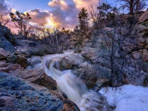 Fotos Vereinigte Staaten Stein Flusse Felsen Bäume Thumb Butte, Prescott, Arizona